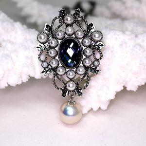 European Style Winter Edison Pearl Brooch & Necklace - Timeless Pearl
