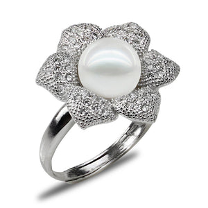 Blooming Flower Pearl Ring - Timeless Pearl