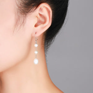 Three Drops Pearl Earrings - Timeless Pearl