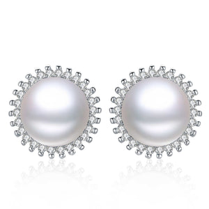Sparkling sunflower pearl earrings - Timeless Pearl