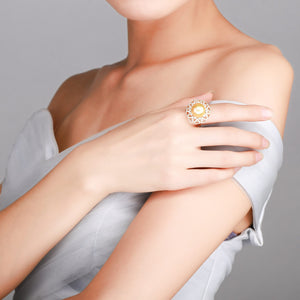 Golden Mandala Edison Pearl Ring - Timeless Pearl