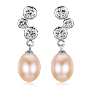 Passion Pink Pearl Earrings - Timeless Pearl