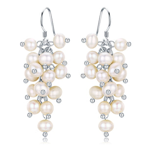 PEARL CLUSTER EARRINGS - Timeless Pearl