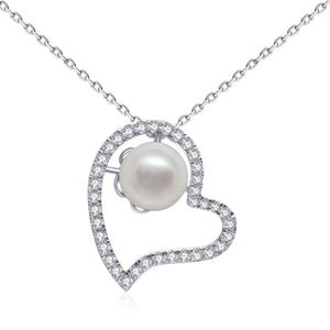 G18k Pearl In My Heart Necklace - Timeless Pearl