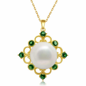 Green Garden Edison Pearl Necklace - Timeless Pearl