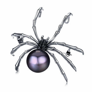 Elegant Spider Edison Pearl Brooch / Pendant - Timeless Pearl