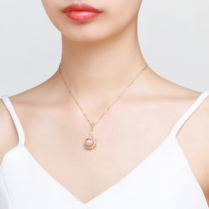 Lucky in Love Pink Pearl Necklace - Timeless Pearl