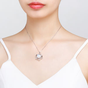 Lady Lotus Classic Pearl Necklace - Timeless Pearl