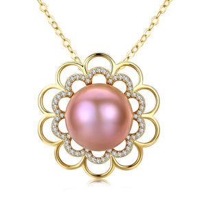 Dazzling Daisy Pine Pearl Necklace - Timeless Pearl