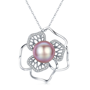 Floral Fantasy Pink Pearl Necklace - Timeless Pearl