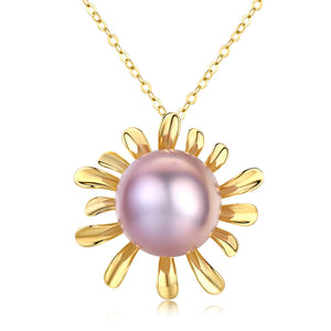 Safflower Pink Pearl Necklace - Timeless Pearl