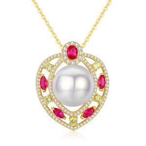 Ace of Hearts Pearl Necklace - Timeless Pearl