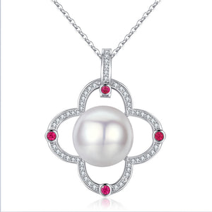 Celtic Knot Pearl Necklace - Timeless Pearl