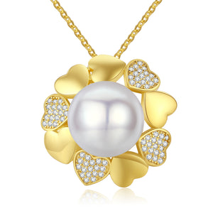 Golden Heartthrob Pearl Necklace - Timeless Pearl