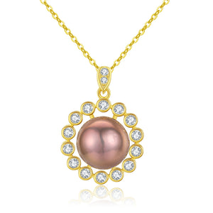 Pinkberry Sunrise Pearl Necklace - Timeless Pearl