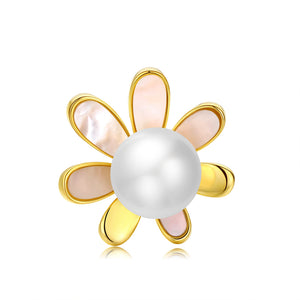 Darling Daisy Pearl Brooch - Timeless Pearl