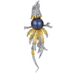Dancing Dove Brooch - Timeless Pearl