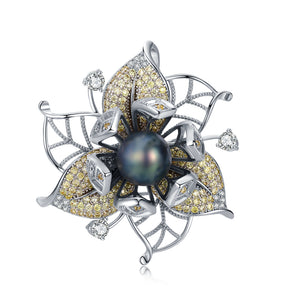 Enchanting Forest Pearl Brooch - Timeless Pearl