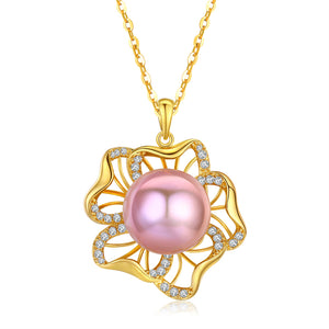 Cherry Blossom Pearl Necklace - Timeless Pearl