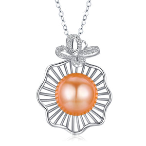 Orange Oasis Pearl Necklace - Timeless Pearl