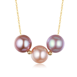 G18k Triple Edison Pearls Necklace - Timeless Pearl