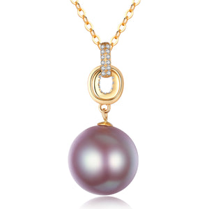 G18k Intertwined Pink Pearl Necklace - Timeless Pearl