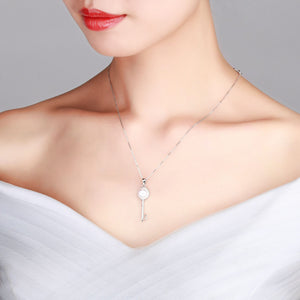 Key To My Heart Pearl Necklace - Timeless Pearl