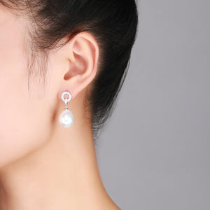 Perfect Circle Edison Pearl Earrings - Timeless Pearl