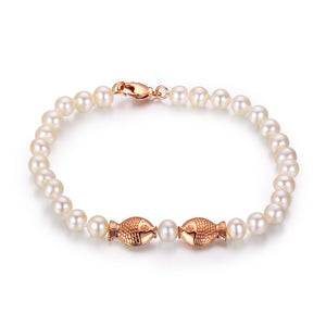 Lucky Fishes Pearl Bracelet - Timeless Pearl