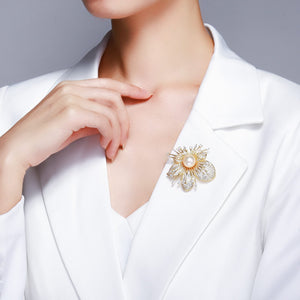 CHERRY BLOSSOM EDISON PEARL BROOCH - Timeless Pearl