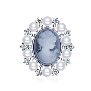 Vintage Style Pearl Brooch - Timeless Pearl