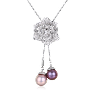 Blooming Rose Edison Pearl Necklace - Timeless Pearl