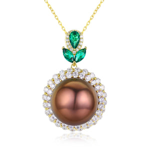 Evergreen Bronze Edison Pearl Necklace - Timeless Pearl