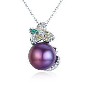 Mysterious Flower Purple Edison Pearl Necklace - Timeless Pearl