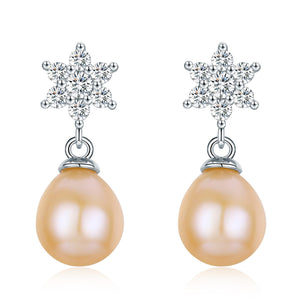Shining Star Peach Earrings - Timeless Pearl