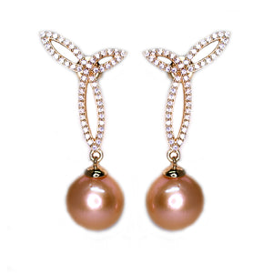 Golden Cherry Edison Pearl Earrings - Timeless Pearl