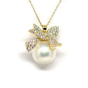 Golden Knot Edison Pearl Necklace - Timeless Pearl