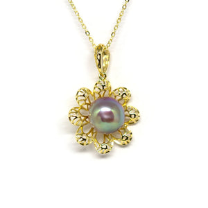 Golden Lucky Flower Edison Pearl Necklace - Timeless Pearl