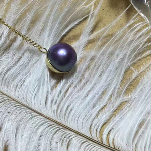 Golden Globe Purple Edison Pearl Necklace - Timeless Pearl