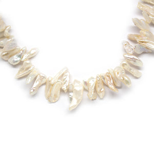 Elegant Biwa Pearl Necklace - Timeless Pearl