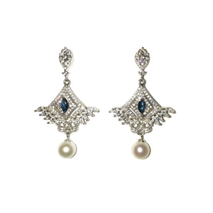 Blue Heaven Pearl Earrings - Timeless Pearl