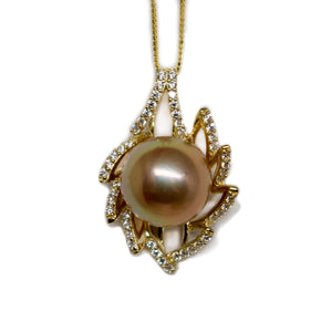 Burning Flame Edison Pearl Necklace - Timeless Pearl