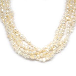 Elegant Baroque Pearl Necklace - Timeless Pearl