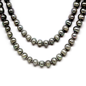 Silver Gray Endless Pearl Necklace - Timeless Pearl