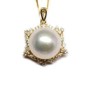 Golden Hexagon Edison Pearl Necklace - Timeless Pearl