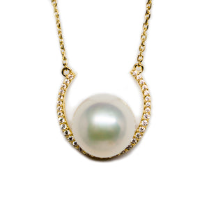 Half Moon Edison Pearl Necklace - Timeless Pearl