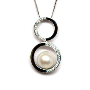 Infinity Edison Pearl Necklace - Timeless Pearl