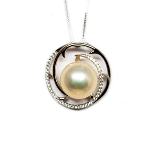 Spiral Vine Edison Pearl Necklace - Timeless Pearl