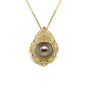 Mysterious Retro Mirror Edison Pearl Necklace - Timeless Pearl