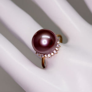 Mystery Miss Purple Edison Pearl Ring - Timeless Pearl